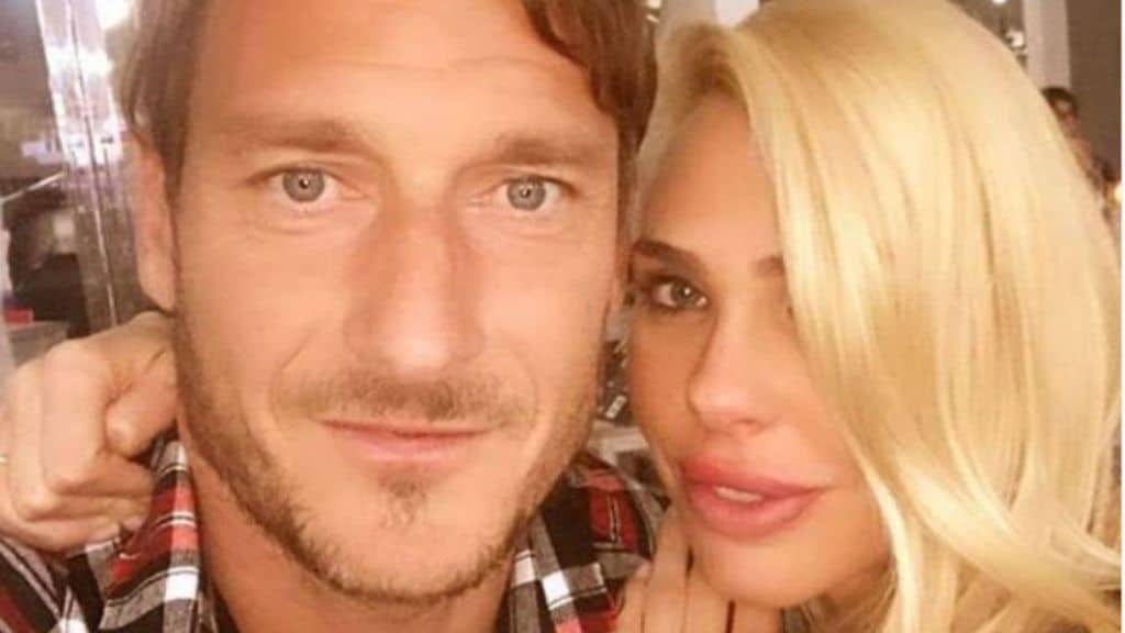 Francesco Totti e la moglie Ilary Blasi