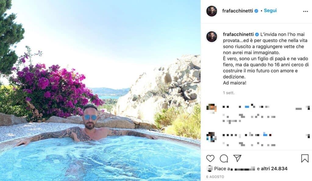 Un post Instagram di Francesco Facchinetti