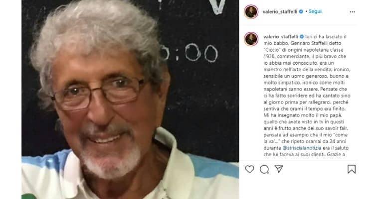 Lutto per Valerio Staffelli: