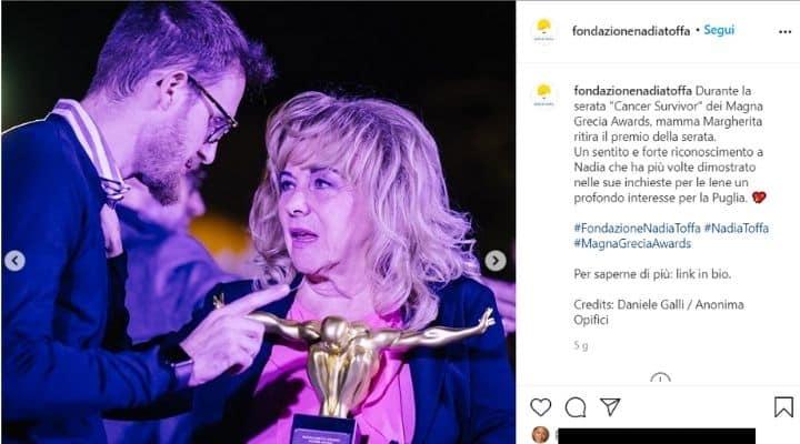 La madre di Nadia Toffa ai Magna Grecia Awards