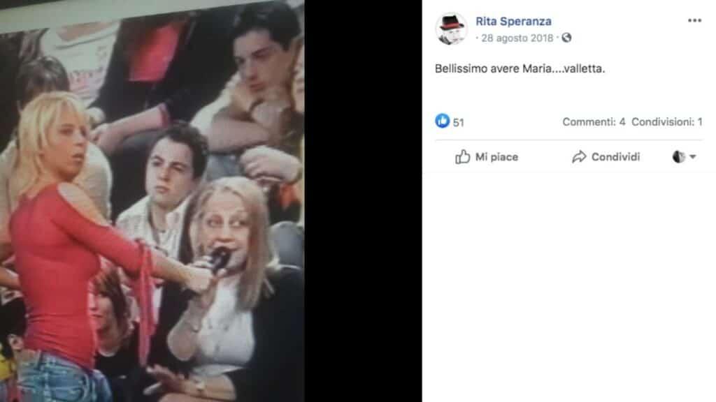 Rita Speranza nel pubblico di Amici di Maria De Filippi