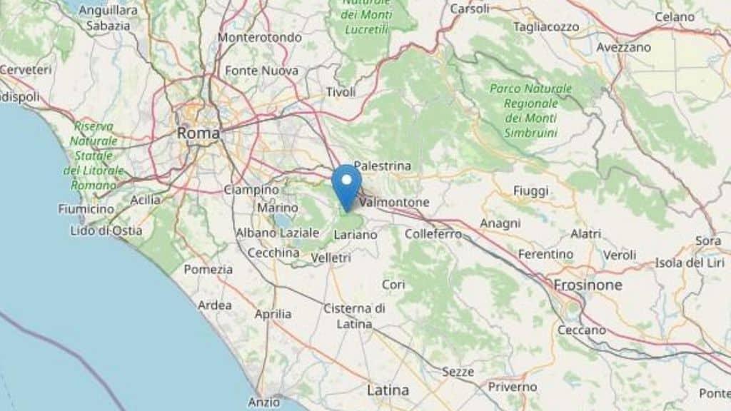 Scosse di terremoto in provincia di Roma: epicentro a Lariano (Castelli Romani)