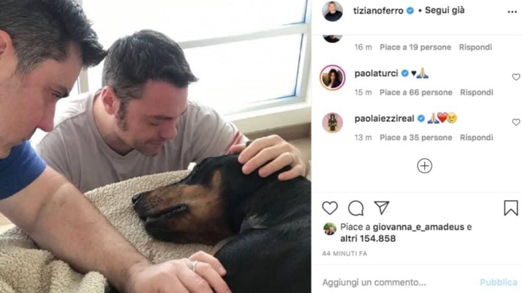 Tiziano Ferro e il suo cane Beau