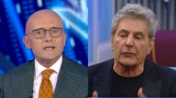 Alfonso Signorini e Fausto Leali al Grande Fratello Vip