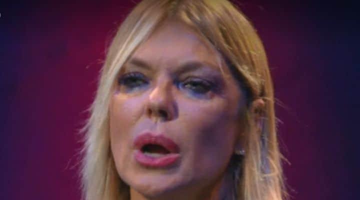 Matilde Brandi in lacrime al GF Vip
