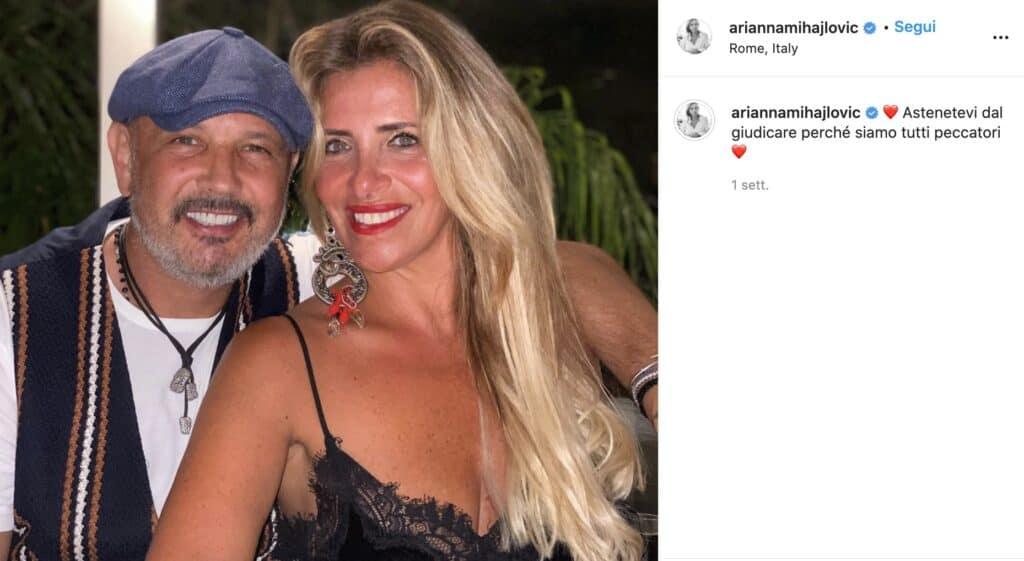 Il post Instagram di Arianna Rapaccioni Mihajlovic