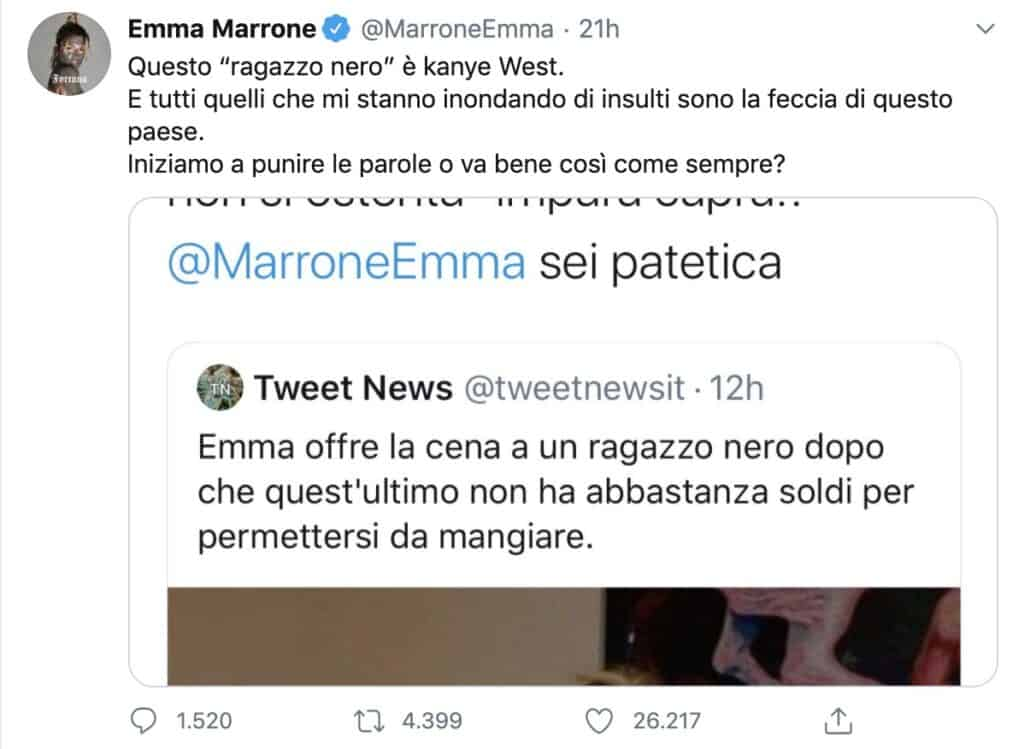 Emma Marrone, insulti per la foto con il