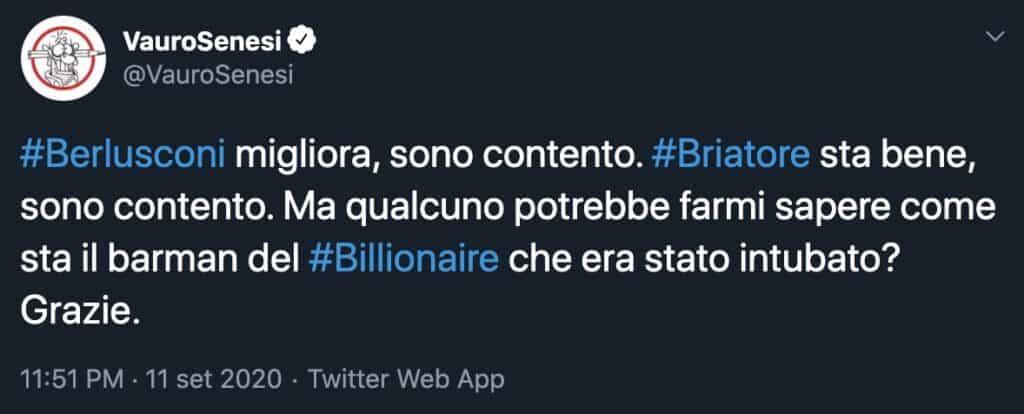 Il tweet di Vauro