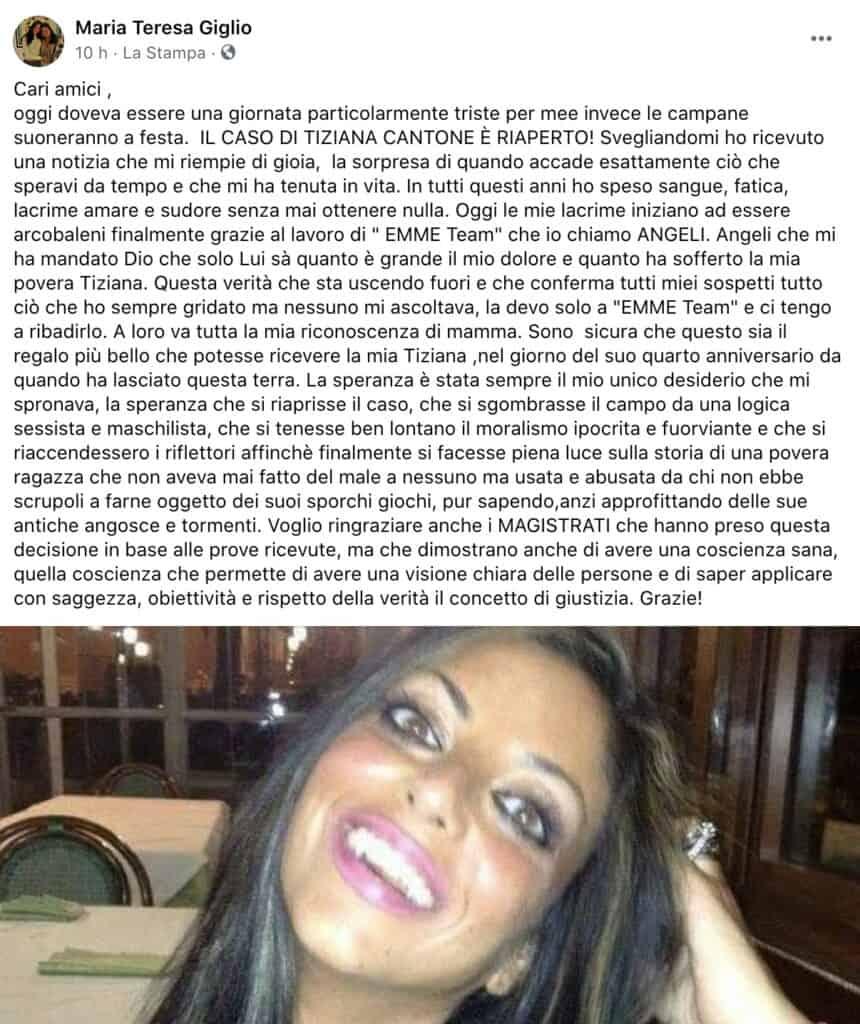 Il post di Maria Teresa Giglio