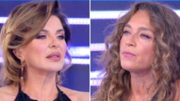 Alba Parietti litiga con Caterina Collovati dalla D'Urso