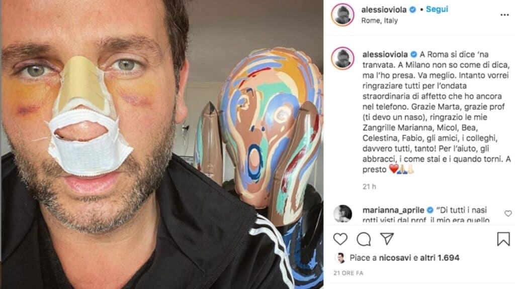 alessio viola post instagram incidente