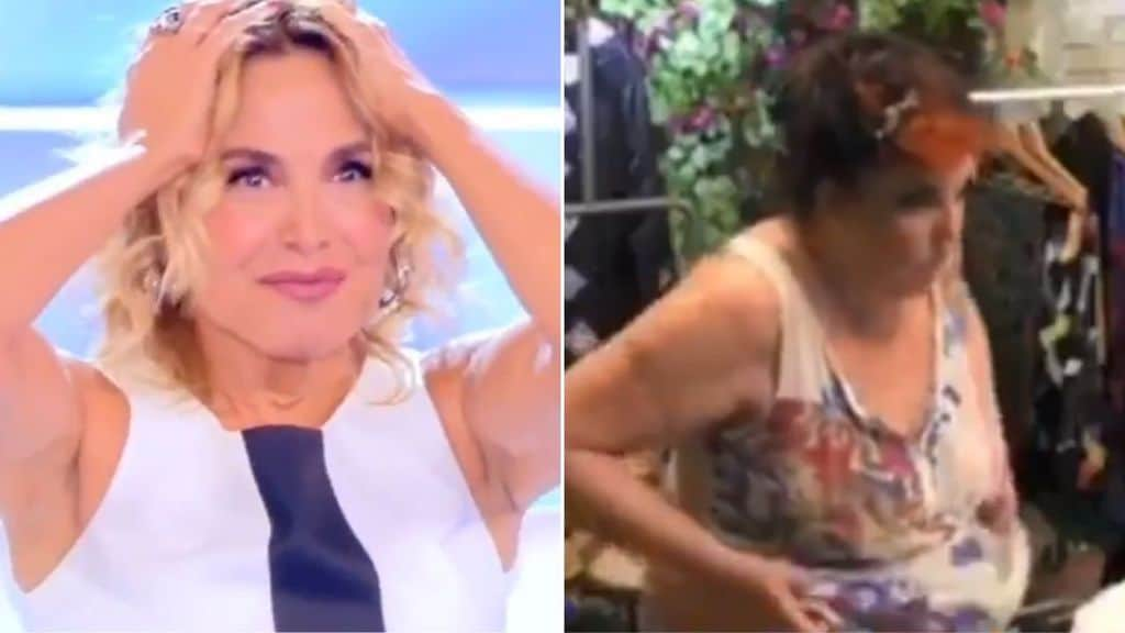 Barbara D'Urso guarda Patrizia De Blanck spogliarsi nuda