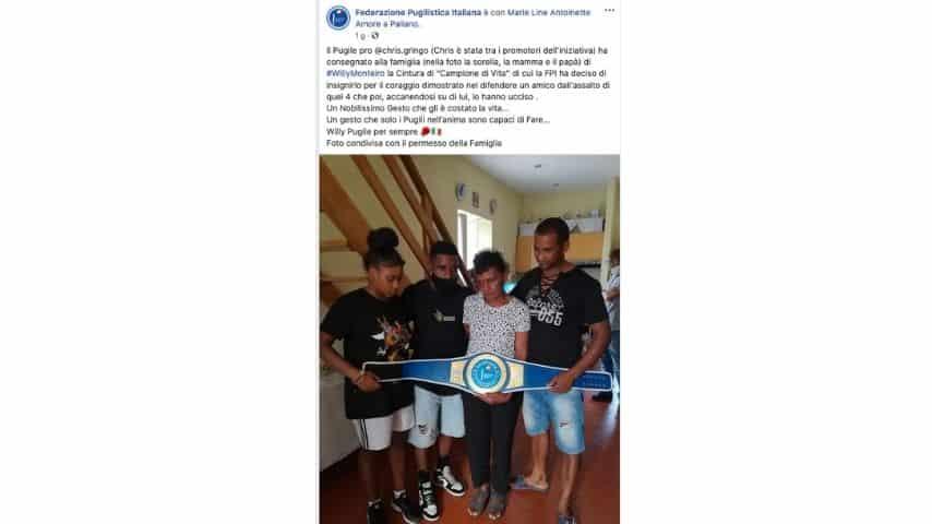 La famiglia di Willy Monteiro Duarte