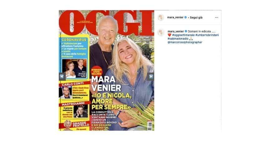 Mara Venier posta su Instagram la copertina di Oggi