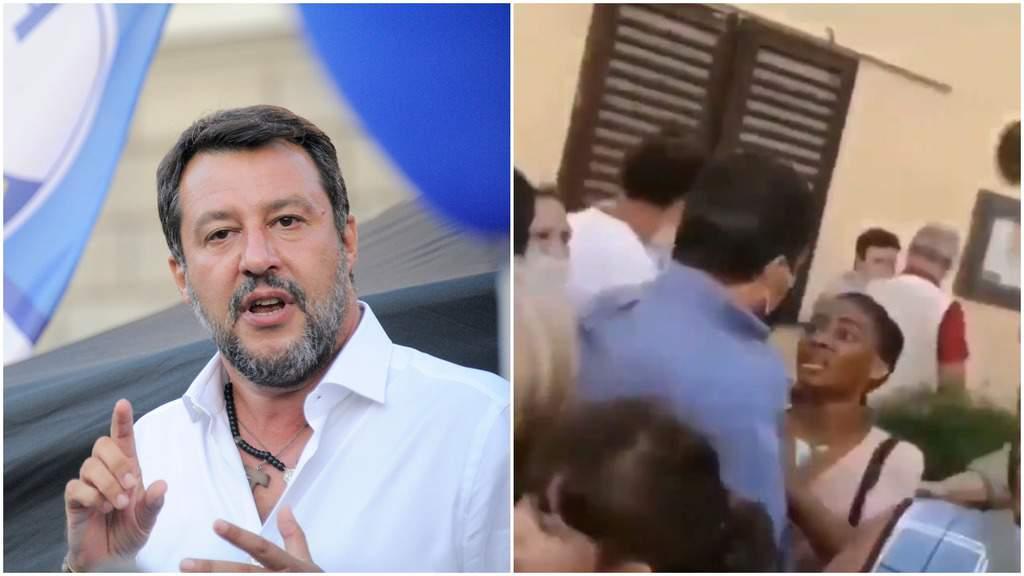 Matteo Salvini aggredito