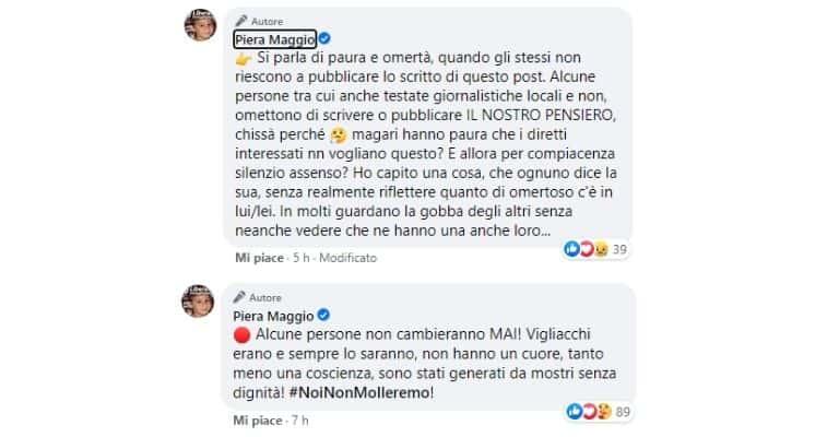 I commenti di Piera Maggio, mamma di Denise Pipitone