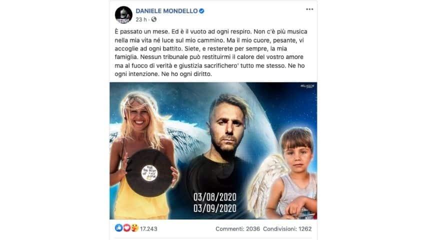 Il post di Daniele Mondello per Viviana e Gioele