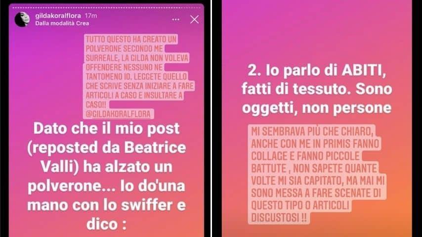 Le Storie Instagram di Beatrice Valli