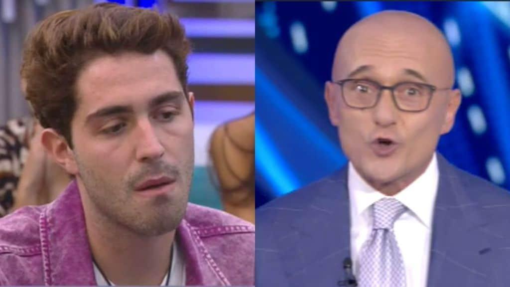 Tommaso Zorzi e Alfonso Signorini al GF Vip