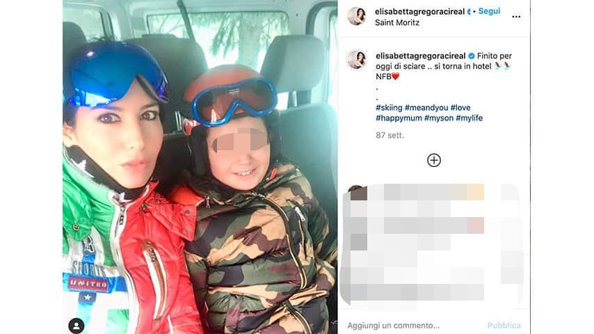Elisabetta Gregoraci e Nathan Falco su Instagram