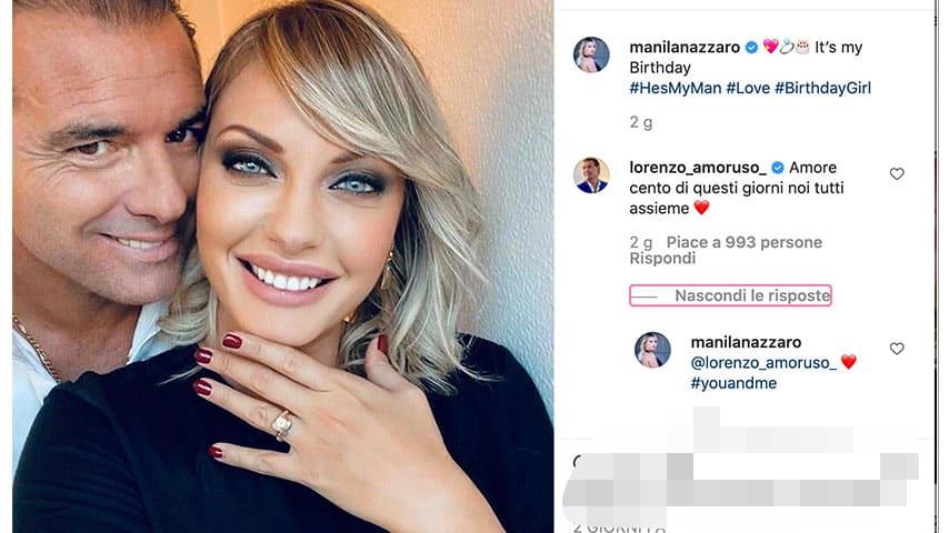 Manila Nazzaro, anello di fidanzamento da Lorenzo Amoruso
