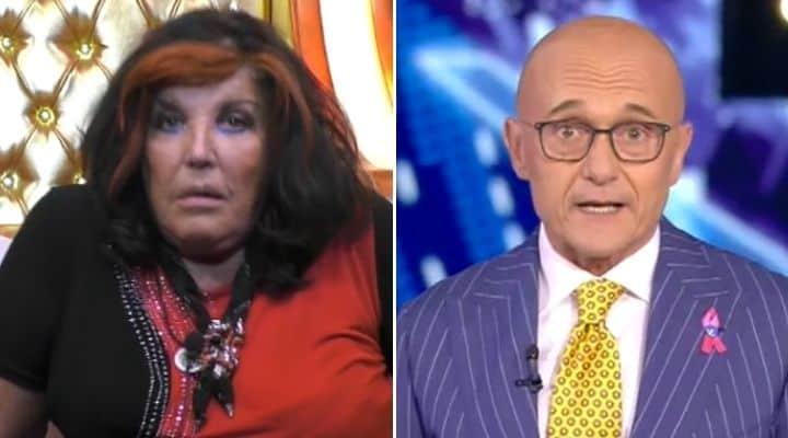 Patrizia De Blanck e Alfonso Signorini al GF Vip