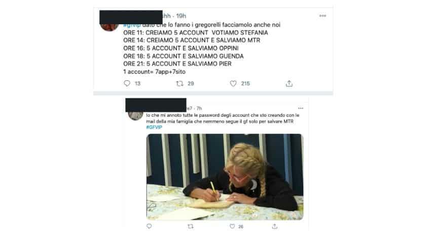 Alcuni dei tweet del televoto-gate