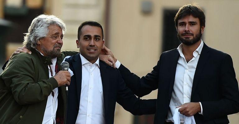 Beppe Grillo, Luigi Di Maio e Alessandro Di Battista