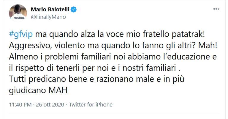 Balotelli si scaglia contro Maria Teresa Ruta e Guenda Goria con un tweet