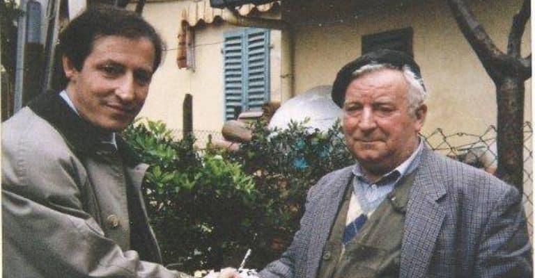 Davide Cannella assieme a Pietro Pacciani