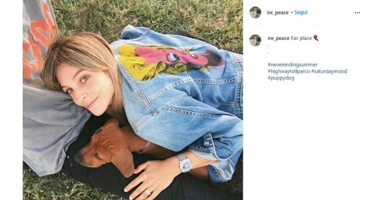 Irene, la nipote di Mara Venier e il suo cane