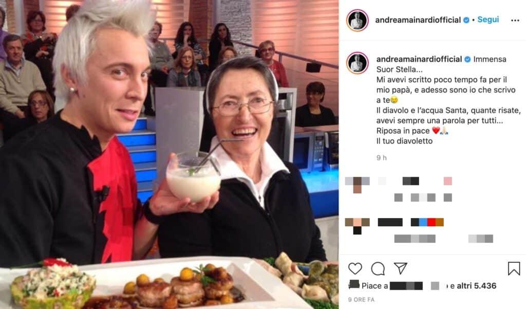 Il post Instagram di Andrea Mainardi