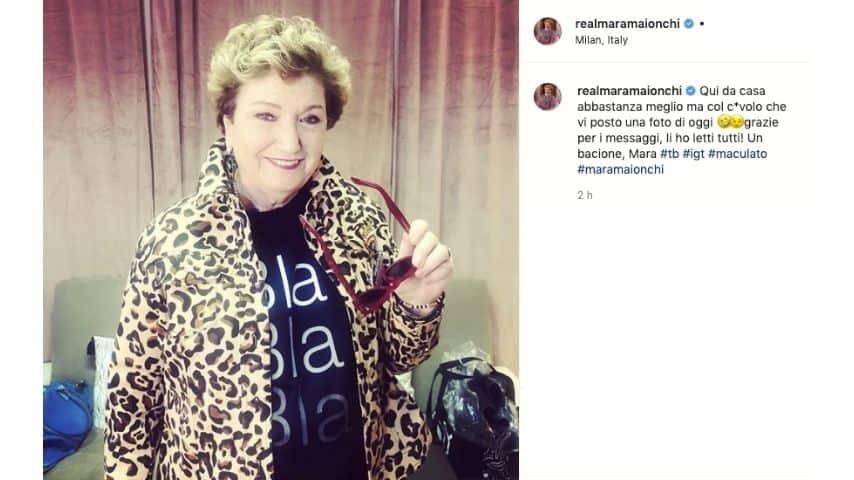 mara-maionchi-dimessa-covid-post-instagram
