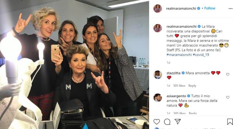 Post pubblicato dallo staff di Mara Maionchi per aggiornare i fan sulle condizioni di salute della celebre produttrice discografica