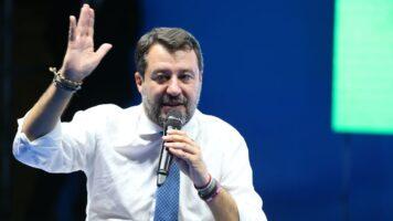 Matteo Salvini dopo l'udienza