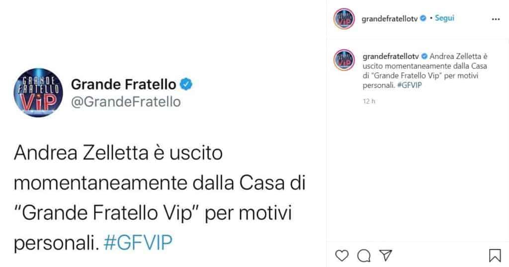 Grande Fratello vip, post