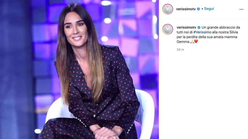 Il post di Verissimo su Silvia Toffanin