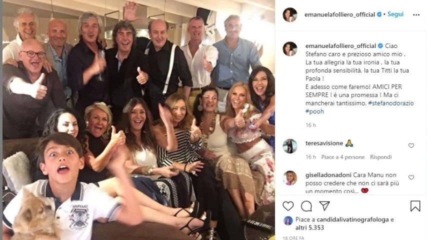 Emanuela Folliero ricorda il batterista dei Pooh e suo ex Stefano D'Orazio con un post su Instagram