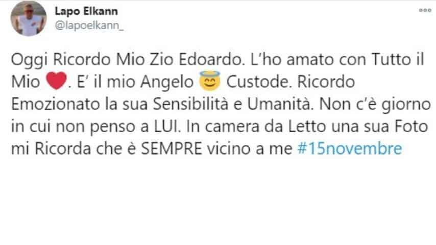 Il tweet di Lapo Elkann in memoria dello zio Edoardo Agnelli