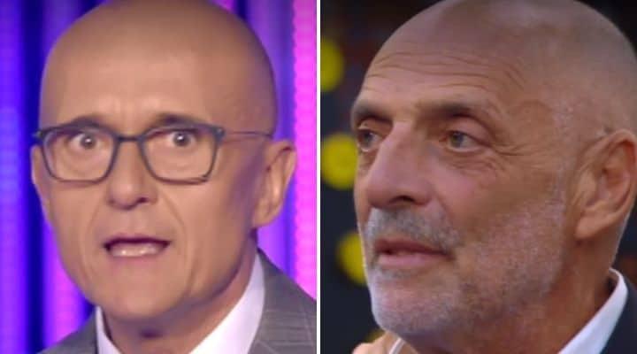 Alfonso Signorini e Paolo Brosio al GF Vip