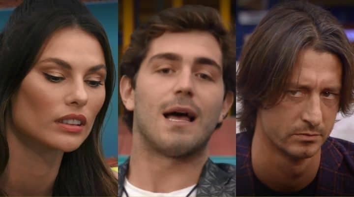 Dayane Mello, Tommaso Zorzi e Francesco Oppini al GF Vip