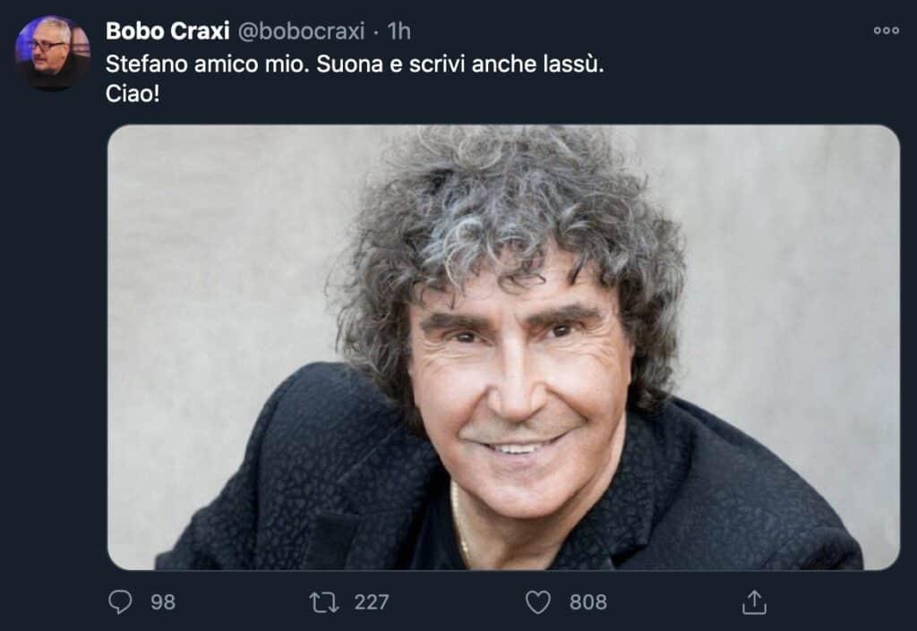 Tweet di Bobo Craxi