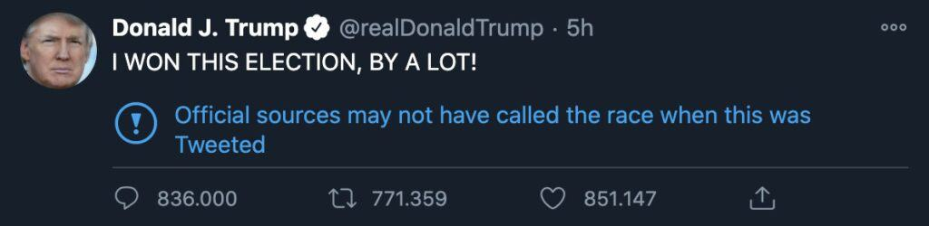 Il tweet di Donald Trump