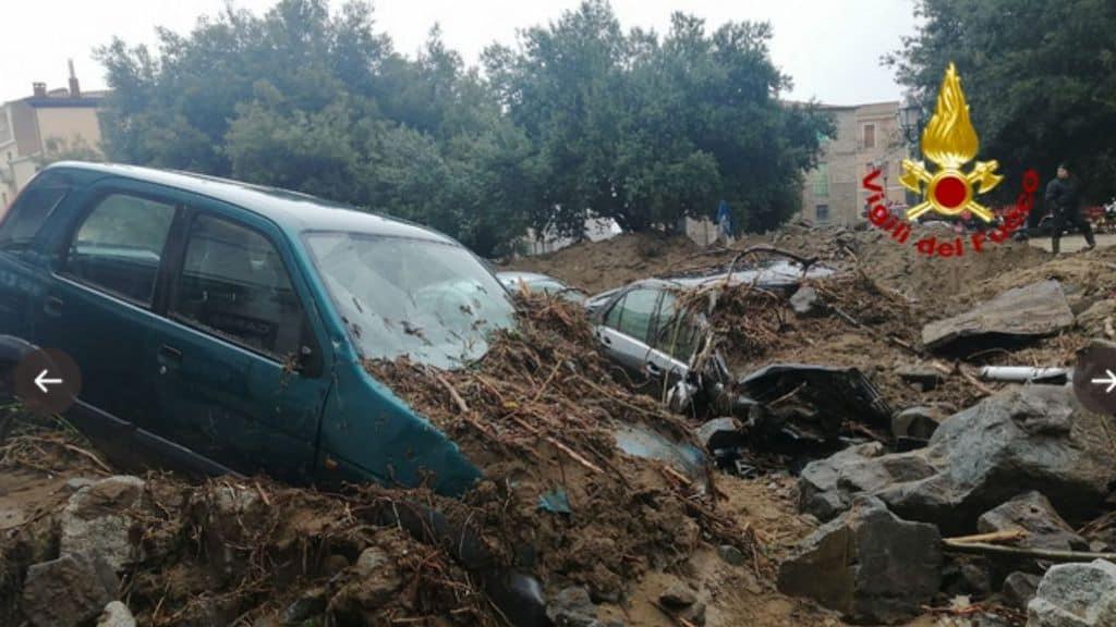 Le immagini della devastazione dell'alluvione di Bitti