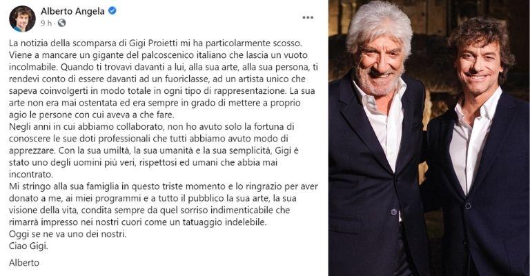 Alberto Angela ricorda Gigi Proietti
