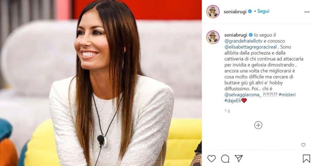 Il post di Sonia Bruganelli su Elisabetta Gregoraci