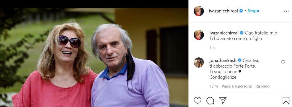 Il post di Iva Zanicchi