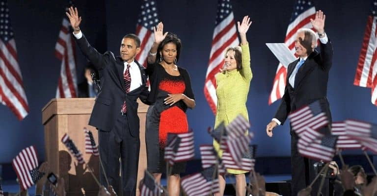 Jill, il marito Joe Biden e gli Obama