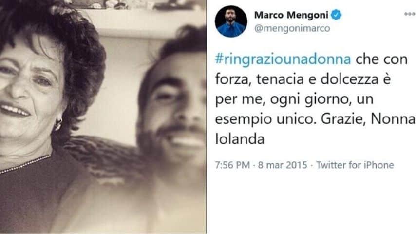 Marco Mengoni e la nonna Iolanda