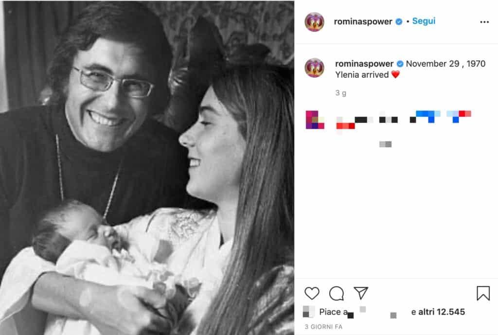 Il post Instagram di Romina Power